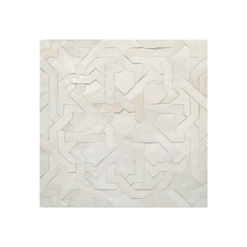 Moorish Tile Shop: White Moroccan bathroom floor tile