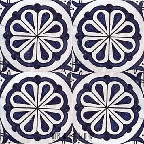 Blue Tile Bathroom Mediterranean style
