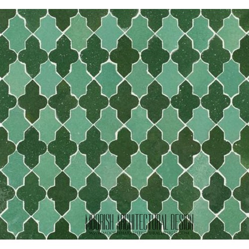 Moorish Arabesque shower tile mosaic