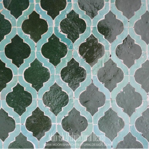Green Arabesque Tile