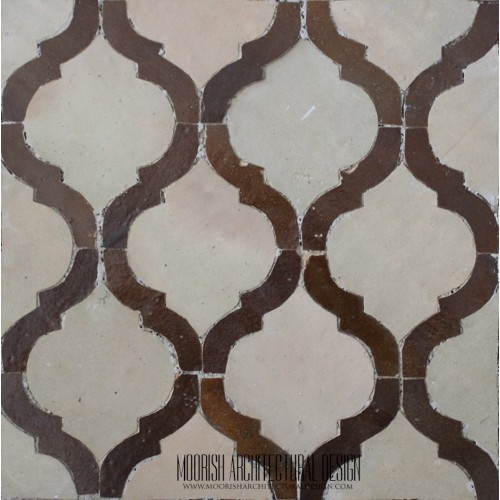 Brown Arabesque Tile