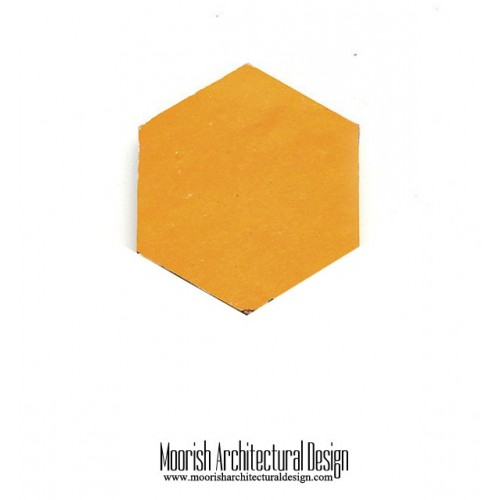 Yellow Moroccan  Hex Tile