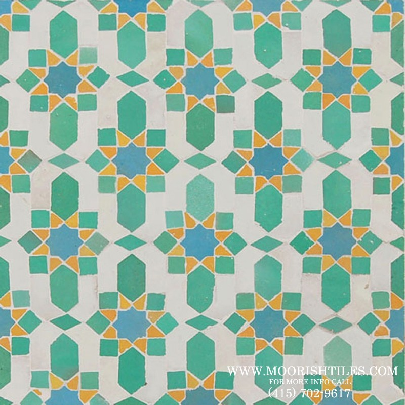 Moorish floor tiles