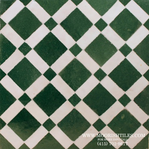 Green Moroccan Tile Pattern