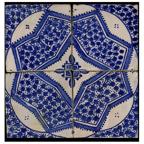 Blue Moroccan Tile Miami Florida