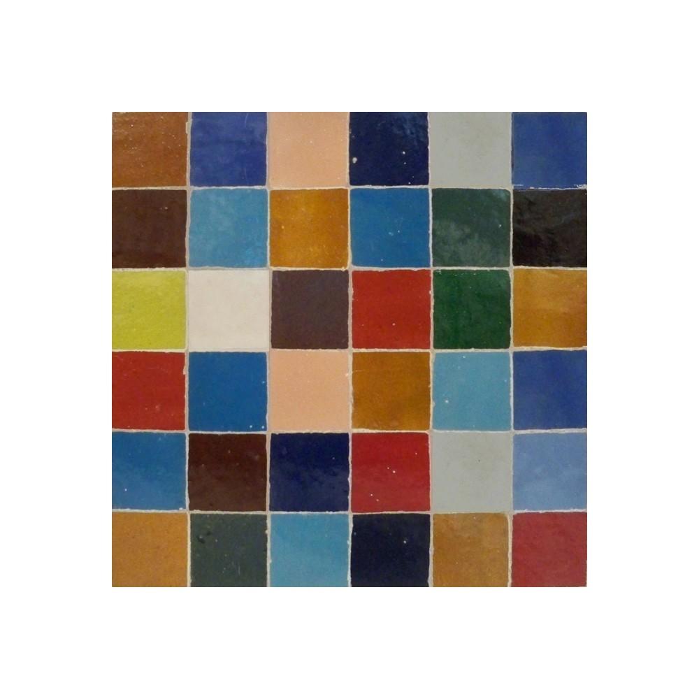 - Multi Color Square Mosaic Tile Moroccan Ceramic Zellige