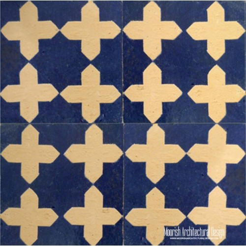Rustic Moorish pool tile