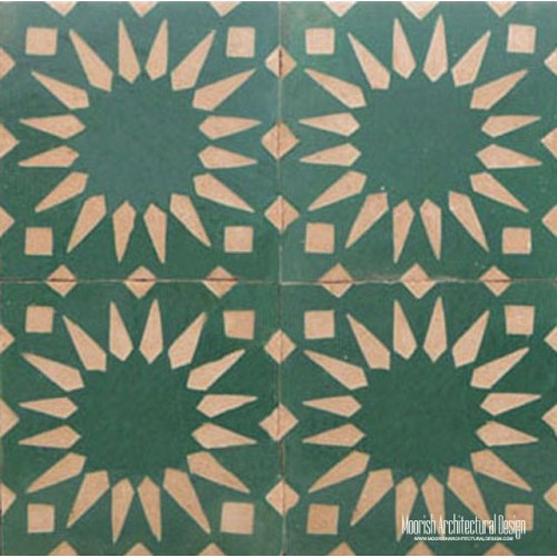 Rustic Moorish Tile fireplace