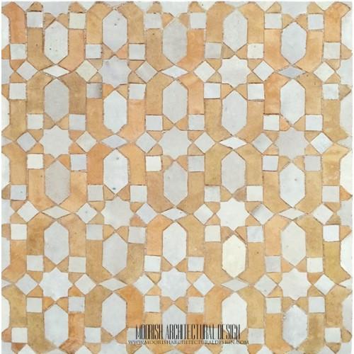 Rustic Moroccan mosaic bathroom tile