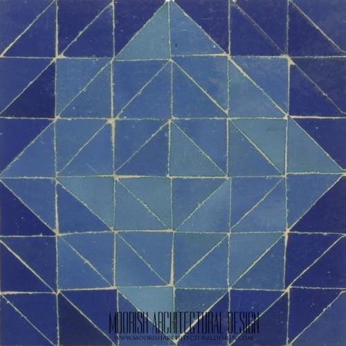 Moroccan Blue Floor Tile Design