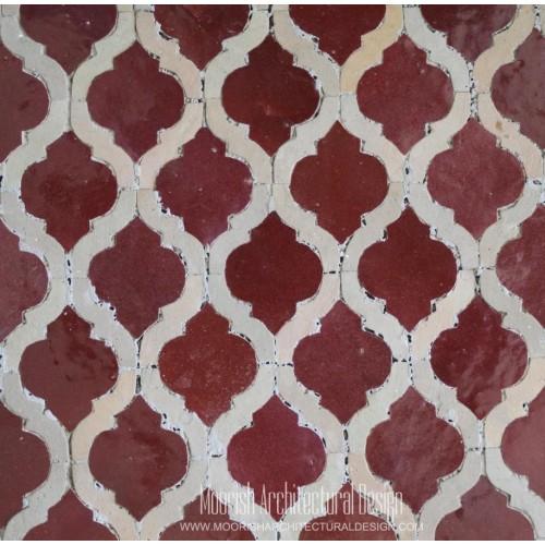 Red Arabesque Tile