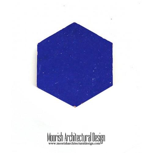 Blue Moroccan Hex Tile