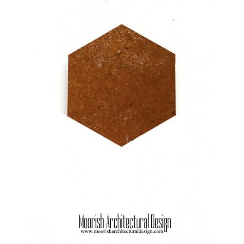 Brown Zellige Hex Tile