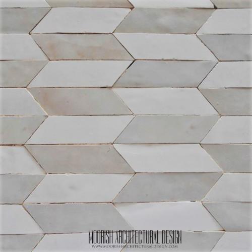 White Zellige Moroccan Tile