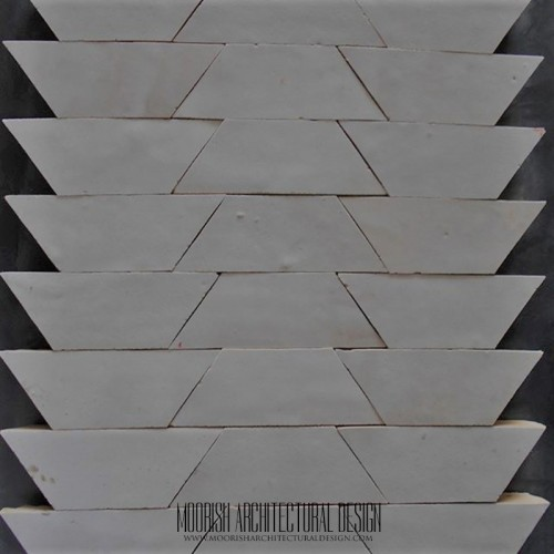 White Moroccan kitchen ceramic tile mosaic