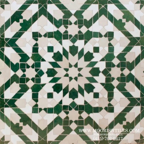 Green Moorish Mosaic