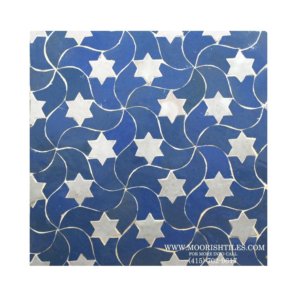 Blue Moroccan Tile Kitchen Backsplash