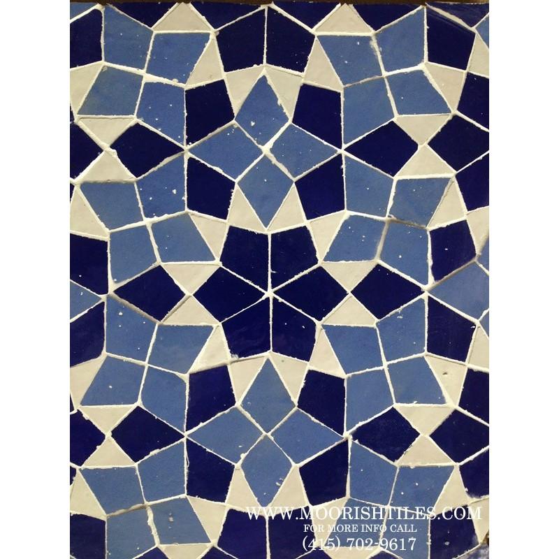 Blue Moroccan pool tile