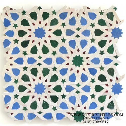 White Moroccan pool tile