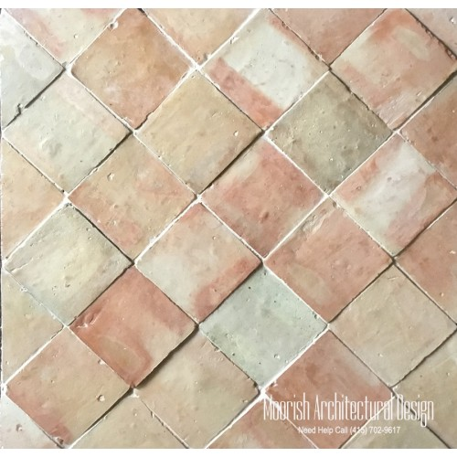 "4"" x 4"" Moroccan Terracotta Tiles"